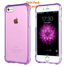 iPhone 7 Cover Case Handphone Case TPU Silicon Case Twin Pack Promo (Purple)