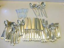 96 Pc CENTURY Holmes Edwards Silverplate Set 12 Cream Soup Cocktail Fork Butter