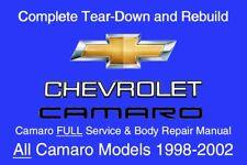Chevrolet Camaro 1998 - 2002 Service Repair Workshop Manual Maintenance GM DVD
