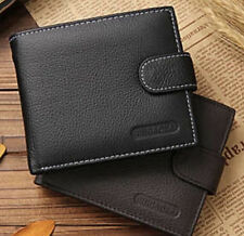 SOFT FAUX LEATHER MEN'S WALLET PURSE COIN POCKET ID WINDOW FOR CARDS NOTES COINS
