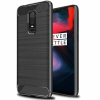 Ragetorc OnePlus 6 Gel Case Slim Silicone Carbon Fibre Flexi Case Cover Skin UK