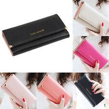 Fashion Women Leather Wallet Case Clutch Purse Lady Long Handbag Card Holder
