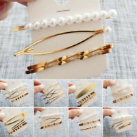 3pcs Pearl Metal Hair Clip Hairband Comb Bobby Pin Barrette Hairpin Headdress