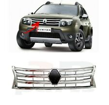 FOR RENAULT DUSTER 2010-2012 NEW FRONT BUMPER OUTER CENTER GRILLE CHROME TRIM