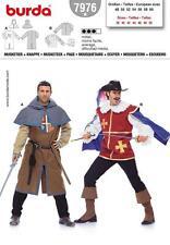 Burda patrón De Costura Vestido De Lujo De Mosquetero & Page Traje Tallas 38 - 50 7976