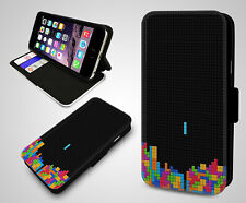 Retro Game Console Play Gameboy Tetris Vintage New Flip Leather Phone Case Cover