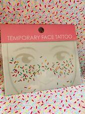 Museum Of Ice Cream Sprinkles Face Tattoo Cupcake Costume