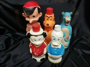 Vintage 1960's Soaky Mickey Donald Baloo Pinocchio Pluto Soakie Lot Disney