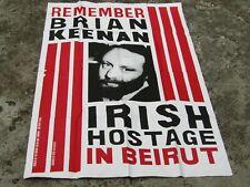 More details for large original free brian keenan irish hostage poster - silkscreen derry irish