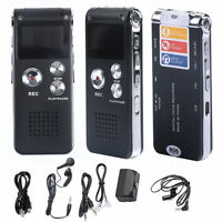New 8GB Digital Voice Recorder 650Hr Dictaphone MP3 Player CL-R30 Black USA ZAE