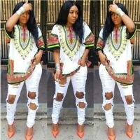 Indian Style Women Dashiki Shirt African Style Ladies Boho Gypsy Festival Dress