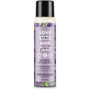 Love Home & Planet RE-WEAR DRY WASH Clothes SPRAY, Lavender & Argan Oil, 6.76 oz