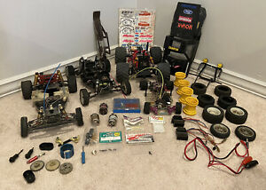 Vintage RC Car Buggy Parts Lot- Team Associated RC10 Kyoshi Novak Tamiya Futaba