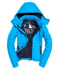 Superdry Hooded Box Quilt Fuji Women's Jacket, Vibrant Aqua - Size 12