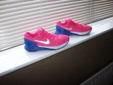 Women's Nike Lunarglide 6 Rose vif/Bleu Royal Respirant Baskets Taille 5 Très bon état