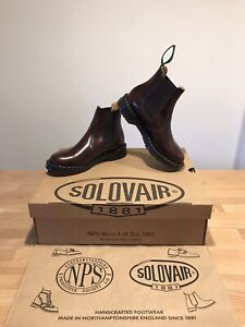 NPS SOLOVAIR Burgundy Shine Chelsea Dealer Women Boots!SizeUK5!New!Only£149.90