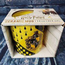 Harry Potter Hufflepuff 14oz Black Yellow Ceramic Coffee Mug *Nib*