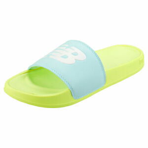 New Balance Swf200ls Womens Yellow Blue Synthetic Slide Sandals