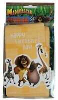 Happy Valentines Day Madagascar Fan Treat Sack Envelopes 24 Count To From