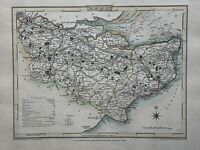 1806 Kent Original Antique Hand Coloured County Map by Cole & Roper