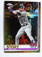 2019 Topps Update Chrome Trevor Story Colorado Rockies Gold Baseball Card 37/50