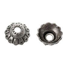 50x perlas tapas perlkappen remates filigrana flores para 8mm perlas Antik plata