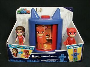 PJ Masks Transforming Playset Amaya Figure Becomes Owlette Play Set New 2020 RED