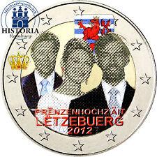 Luxemburg 2 Euro 2012 bfr. Prinzenhochzeit von Guillaume und Stephanie in Farbe