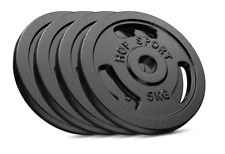Hop Sport Cast Iron Load Set 4 x 5 kg  Black. Pro Gym Good Quality.