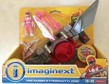 Nib Fisher-Price Imaginext Power Rangers Pink Ranger & Pterodactyl Zord