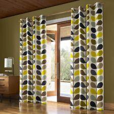 Orla Kiely Multi Stem Pair Lined Eyelet Curtains, Multi Stem duck egg 168x229