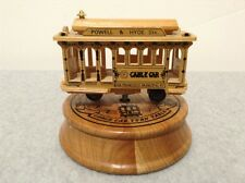 "Wooden San Francisco Cable Car Music Box Plays ""I Left My Heart..."" (#GT9-L3)"