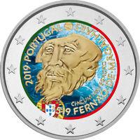 2 Euro Gedenkmünze Portugal 2019 coloriert / mit Farbe Farbmünze Magellan