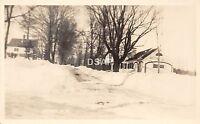 B9/ Jaffrey New Hampshire NH Real Photo RPPC Postcard c1940s Snow Homes