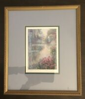 "LYNN GERTENBACH HAND SIGNED PRINT~ Twilight In Griarn~FRAMED~MATTED~15""x13~Glass"