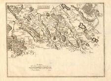 Canal de l'eure 3. rambouillet-trappes-versailles. chevreuse. de fer carte de 1705