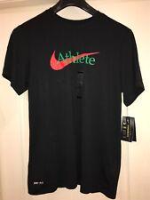 Nike athlete dri-fit men's t shirt brand new with tags size medium colour black