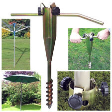 HEAVY DUTY STEEL SCREW IN GROUND SPIKE  PARASOL AIRER ROTARY WASHING LINE STAND