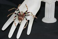Beaded Spider (Brown) - Ornament / Christmas Tree Decoration
