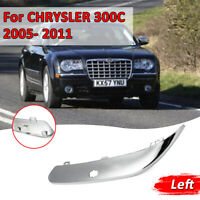 Front Bumper Chrome Trim Moulding With Holes Left For Chrysler 300C  !! !! !!A