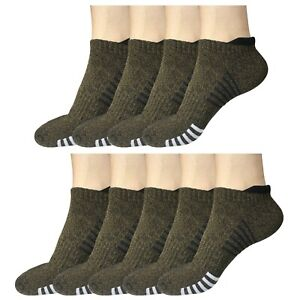 9 Pair Mens Low Cut Ankle Breathable Cotton Cushion Athletic Running Sport Socks