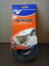 """Velcro One-Wrap 50 Ties~8""""x½""""~Black/Gray~Self-Gripping Cable Ties Reusable"""