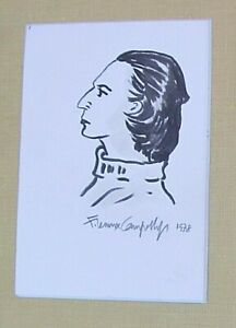 PORTRAIT OF DIANE VREELAND - 1978 Drawing by WHO's WHO IN AMERICAN ART artist!