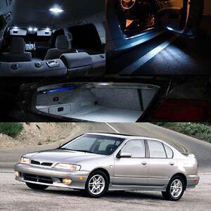 FOR : 99-02 Infiniti G20 Interior White Xenon LED Full Bulb Map Dome Trunk Plate