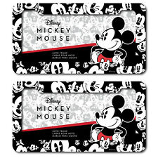 2 Disney Mickey Mouse Expressions Emotions Plastic License Plate frame Universal