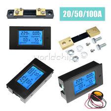 2050100a Lcd Display Combo Panel Volt Amp Power Watt Meter Acdc 65100v