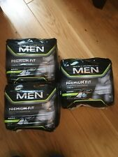 THREE PACKS of Large TENA Men Premium Fit