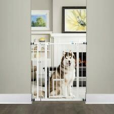 4 Pack Extra Tall Walk Through Pet Gate Non-Toxic Extension Kit with Small Door