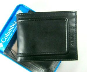 Columbia Mens Bifold Leather RFID Security Wallet Black 31CP220018