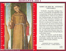 2896 SANTINO HOLY CARD BEATO S. ANTONIO PADOVA FB E. 423 HL. ANTONIUS VON PADUA